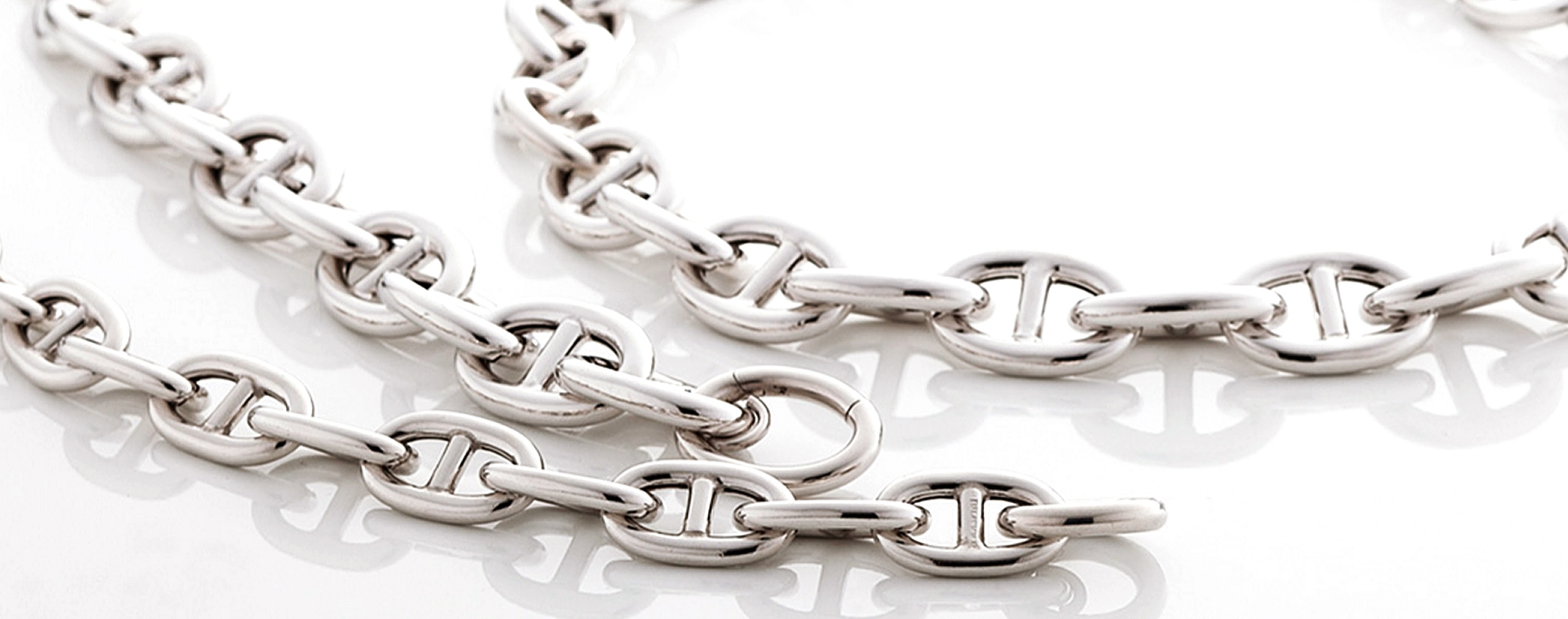 Sterling Silver Gucci Chain Necklace